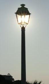 Beleuchtung mit LED Strassenlampe
